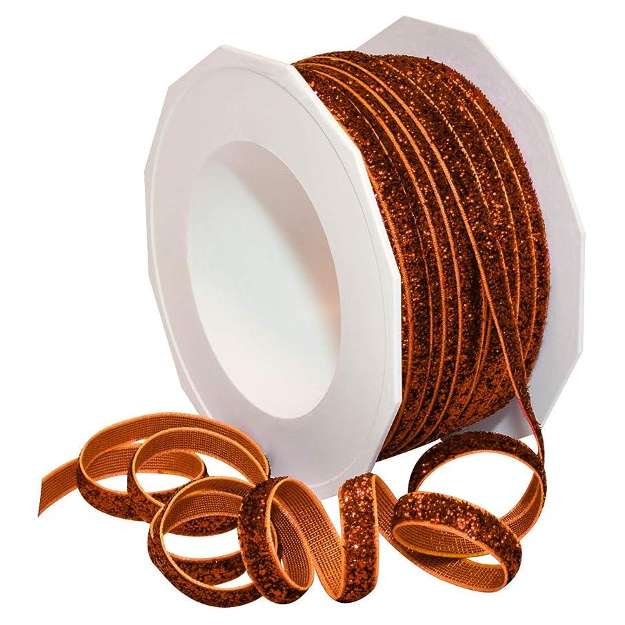 Morex Ribbon 987 Velvet Glitter Ribbon 1/4