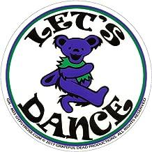 Gypsy Rose Grateful Dead Dancing Bear Let's Dance (On Clear) - Bumper Sticker/Decal (5