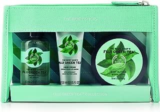 The Body Shop Fuji Green Tea Beauty Bag Gift Set, 3pc Bath and Body Gift Set of Travel Size Fuji Green Tea Body Care