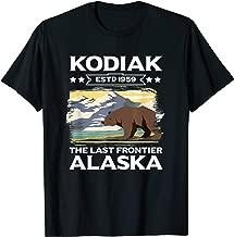 Kodiak The Last Frontier Alaska Grizzly Bear Outdoor Hiking T-Shirt