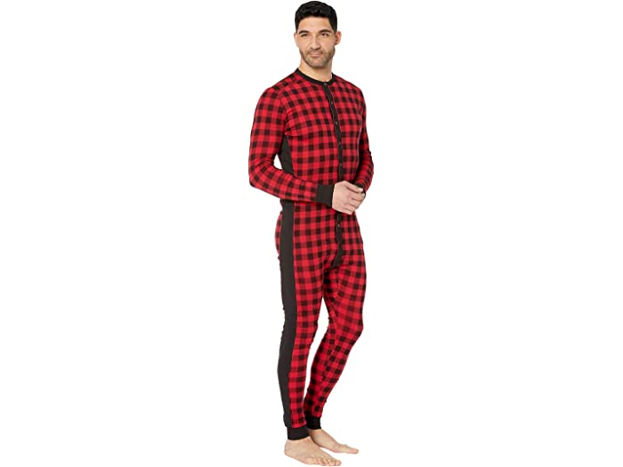 2 (x) Ist Essential Union Suit Buffalo Check Sleepwear