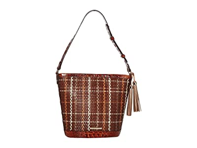 Brahmin Prairie Quinn Shoulder Bag (Pecan) Shoulder Handbags