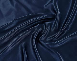 Linen Plus Queen Size 4pc Satin Sheet Set Soft Silk Cozy Solid Navy Blue New