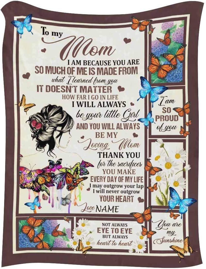 InterestPrint Customized Blanket with Name Mom from Virginia Beach OFFicial shop Mall Daughter for