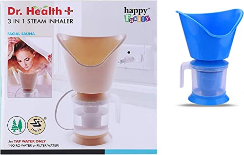 AUGEN Dr Health 3 In 1 Steamer Steam Inhaler For Cold And Cough Soothes Balm Effect Steam Vaporizer Colour May Vary Pack Of 1