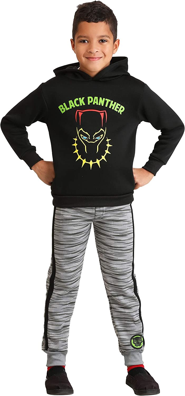 Boys Marvel Black Panther Poly Fleece Hoodie and Pants Set