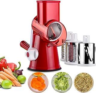 Vegetable Mandoline Chopper,Upintek 3-Blades Manual Vegetable Slicer,Efficient and Fast Vegetable Fruit Cutter Cheese Shre...