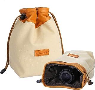 TARION カメラポーチ カメラバッグ ミラーレス 巾着袋 レンズポーチ レンズケース 一眼レフ デジタルカメラケース カメラ収納袋 13*12*21CM 一眼レフカメラ/デジタルカメラ適用 Mサイズ