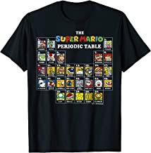 Super Mario Periodic Table Of Characters Graphic T-Shirt