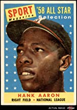 1958 Topps # 488 All-Star Hank Aaron Milwaukee Braves (Baseball Card) Dean's Cards 7 - NM Braves