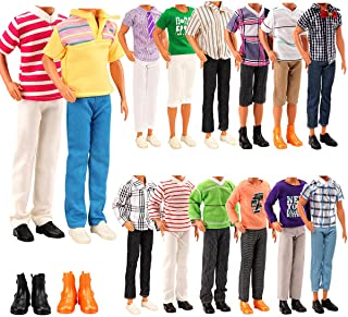 Miunana Lot 8 Items Doll Clothes for Ken Doll Include...