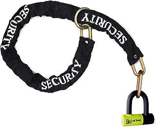 Urban Security UR59120 Anti-Theft Mini U Padlock Diameter 14 + Chain Multi-Function 120 cm