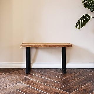 طاولة خشبية من ويللاند أولد إلم لأريكتك وطاولة تحكم لغرفة المعيشة، التخزين، 81.28 سم طول × 30.48 سم عرض × 43.18 سم ارتفاع