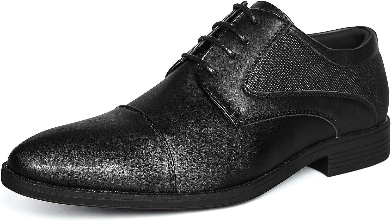 mysoft Men's Oxford Dress Shoes Formal Classic Lace Up Shoes