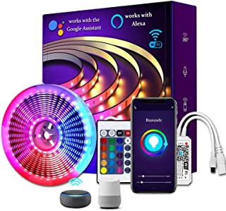 LED Strip Lights 16.4ft WiFi Wireless Smart Phone APP Controlled Waterproof Light Strip Kit 5050 LED Lights Sync to Music,...