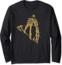 God of War Kratos and Atreus One Color Gold Long Sleeve T