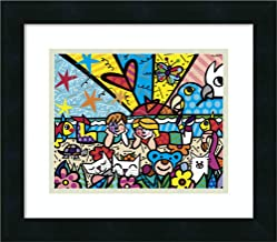 Framed Wall Art Print in The Park by Romero Britto 16.00 x 14.00