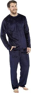 CityComfort Mens Pyjamas Set | Super Soft Fleece Mens 2 Piece Pyjamas Loungewear Tracksuit | Nightwear in Navy, Black, Gre...
