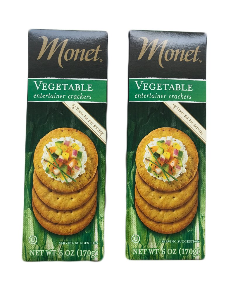 Monet Vegetable Entertainer Crackers 2 pe Indefinitely Pack 6 Louisville-Jefferson County Mall Ounce Boxes