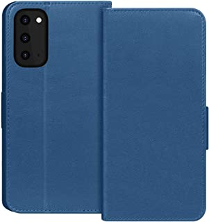 """FYY Samsung S20 Case 6.2"""", Luxury Cowhide Genuine Leather [RFID Blocking] Wallet Case with Kickstand and Card Slots for Sa..."""