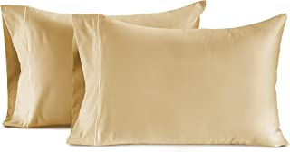 CHATEAU HOME COLLECTION Luxury 100% Egyptian Cotton 800-Thread-Count Egyptian Cotton Deep Pocket Sateen Weave, Set of 2 Standard Pillowcases - Semolina
