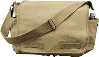 9848 Vintage Classic Army Messenger Heavy Weight Shoulder Bag
