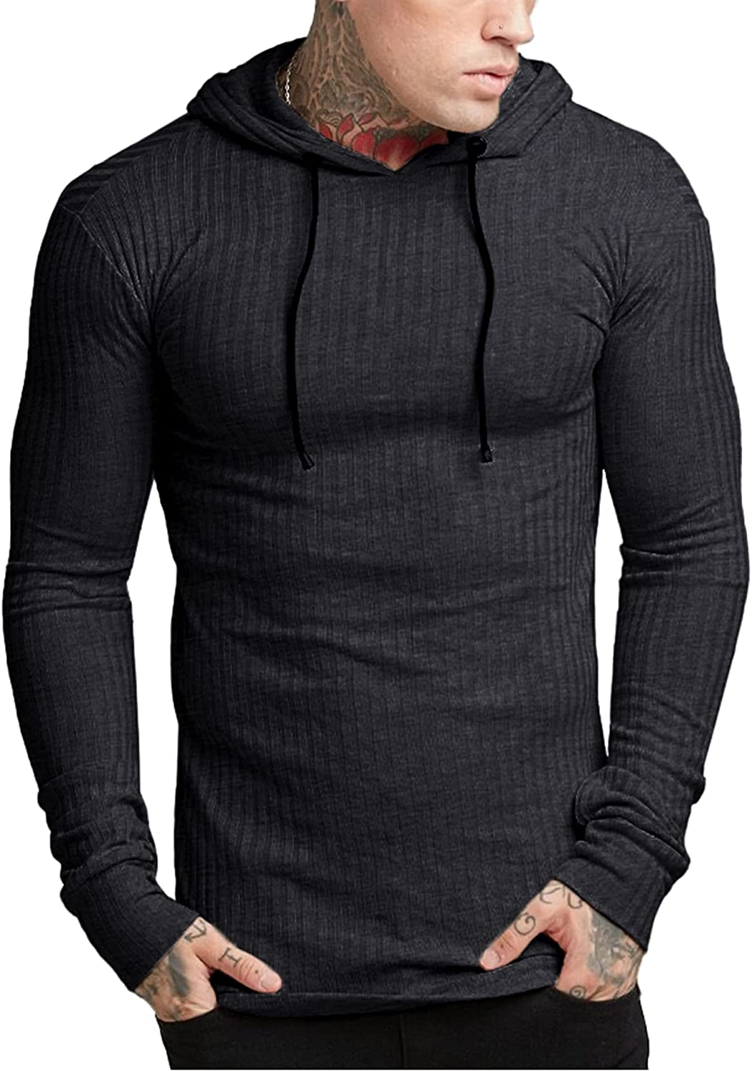 Babioboa Men's Hoodies Pullover Long Lightweight Ribbed 25% OFF Sale SALE% OFF Sleeve S