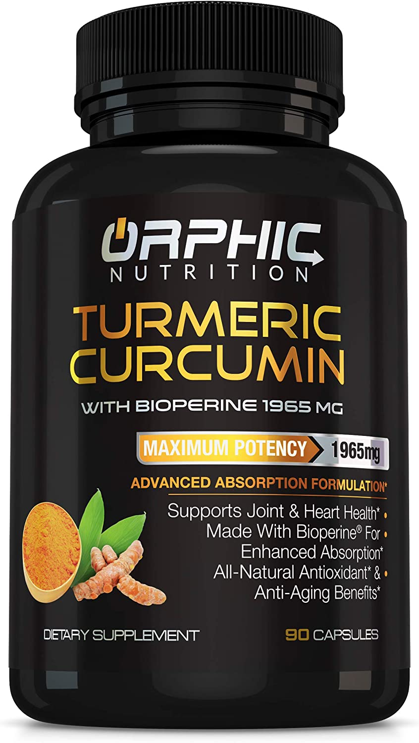Turmeric excellence Curcumin with Bioperine - Natural 1965mg New products world's highest quality popular Max Su Potency