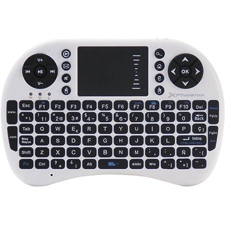 Phoenix Technologies - Mini teclado inalámbrico 2.4Ghz con touchpad integrado para Android TV Box, PC, Pad, Smart TV, X-Box, HTPC