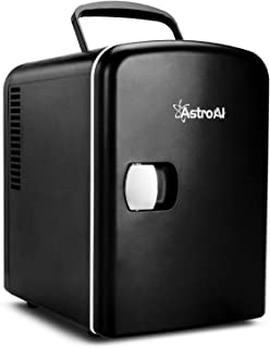 Best AstroAI Mini Fridge 4 Liter/6 Can AC/DC Portable Thermoelectric Cooler and Warmer for Skincare, Foods, Medications, Home and Travel (Black) Review