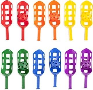 Champion Sports SBS1SET Scoop Ball Set: Classic Outdoor Lawn Party & Kids Game in 6 Assorted Colors