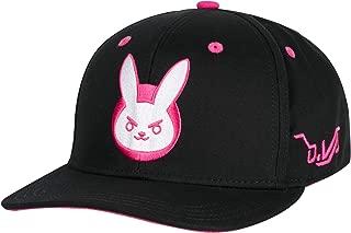 Overwatch D.Va Bunny Snapback Baseball Hat, Black, One Size