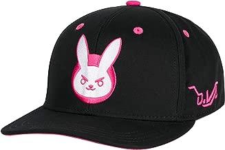 JINX Overwatch D.Va Bunny Snapback Baseball Hat, Black, One Size