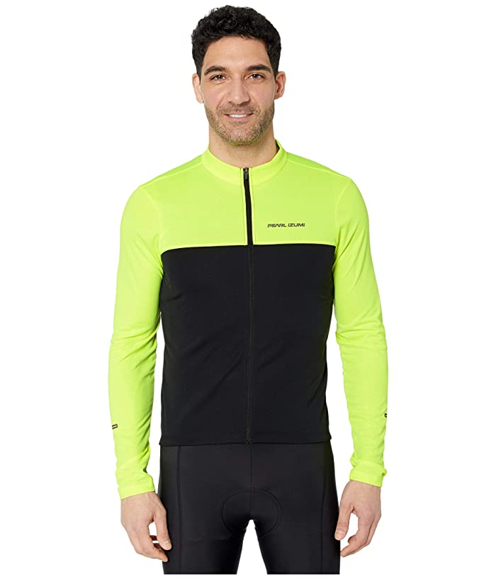 Pearl Izumi  Quest Long Sleeve Jersey (Screaming YellowithBlack) Mens Workout