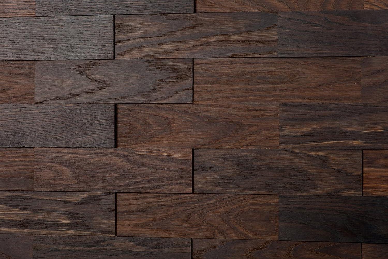 Wodewa Wandverkleidung Holz 3D Optik I Eiche Tabak I 1m2 Wandpaneele Moderne Wanddekoration Holzverkleidung Holzwand Wohnzimmer Küche Schlafzimmer