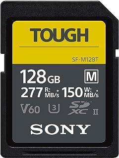 Sony SDXC Speicherkarte (SF M Serie, 128 GB, UHS II U3 V60, SDXC, Lesegeschwindigkeit, 277 MB/s Schreiben, 150 MB/s SFM128T)
