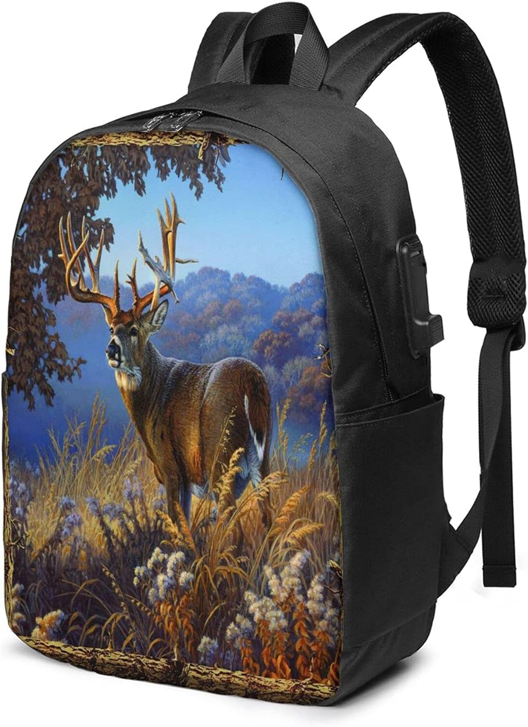 Selling New York Mall Deer Hunting Laptop Backpack For Daypack Usb Chargi with Boys