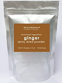 Ginger Powder   Functional Ingredients   Spray Dried   100% Water Soluble   Vegan Food   Gluten Free   Non-GMO   Chemical Free