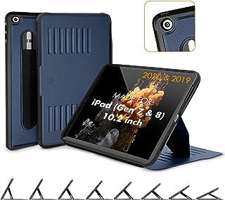 ZUGU iPad 10.2 Hülle 2020 / 2019, schlanke Schutzhülle für die iPad8 / iPad7, 8 Winkel Ständer magnetisch Stifthalter Auto Sleep /Wake UP [Navy Blau]