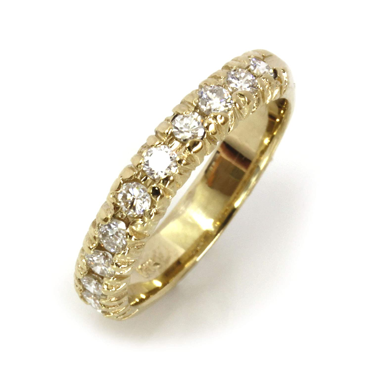 0.6 ct tw Cash special price Natural Diamond Solid Gold 14k Stackable Yellow Weddin High order