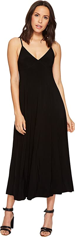 KAMALIKULTURE by Norma Kamali Slip Empire Flaired Dress