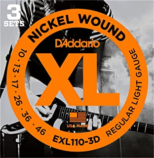 DAddario EXL110-3D Nickel Wound Electric Strings Light 3-Pack