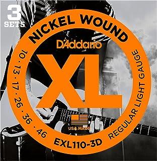 DAddario EXL110-3D Nickel Wound Electric Strings Light 3-Pack