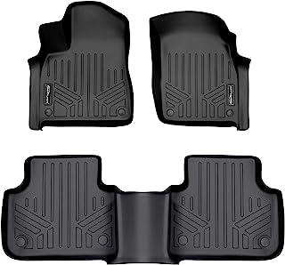 SMARTLINER Custom Fit Floor Mats 2 Row Liner Set Black for 2017-2019 Audi Q7 / 2019 Audi Q8