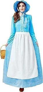 Kostuum voor dames, Halloween, koloniaal spel, grote maten, voor dames, Victoriaanse stijl, complete set