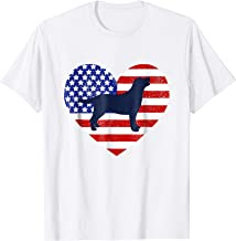 Patriotic Labrador Retriever Outline 4th of July T-shirt