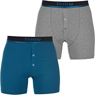 Firetrap Mens 2 Pack Boxers Boxer Underwear Stripe Elasticated Waist