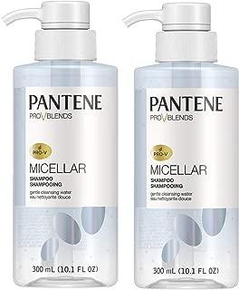 Pantene Shampoo Micellar Gentle 10.1 Ounce Pump (300ml) (2 Pack)