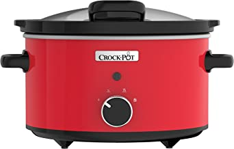 Crock Pot CSC037 Red 3.5L Hinge Lid Stoneware 220/240 volt 50Hz (Will not Work in USA)