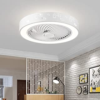 36W Invisible Ceiling Fan with Light, Remote Control LED...